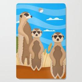 Meerkats Cutting Board