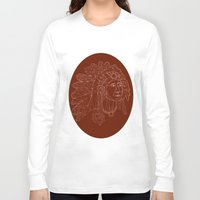 native american Long Sleeve T-shirts featuring native american by johanna strahl