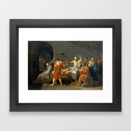 The Death of Socrates Framed Art Print