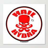 hydra Canvas Prints featuring Hydra by artandawesome