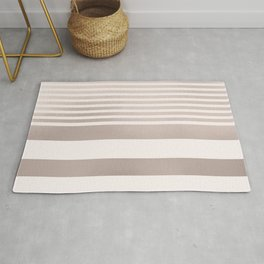 Rose Gold and Pink Stripes Mix Pattern Rug