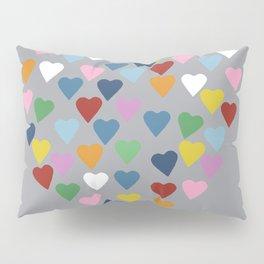Hearts Heart Multi Grey Pillow Sham