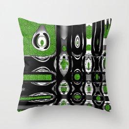 Verde botella Throw Pillow