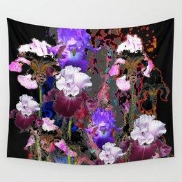 Southwest-western Style PURPLE IRIS GARDEN Wall Tapestry