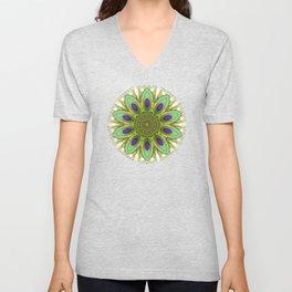 Peacock Healing Light Mandala Unisex V-Neck