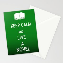 Keep Calm & Live a Novel Stationery Cards