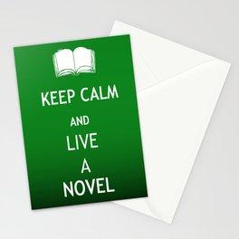 Keep Calm & Live a Novel Stationery Cards