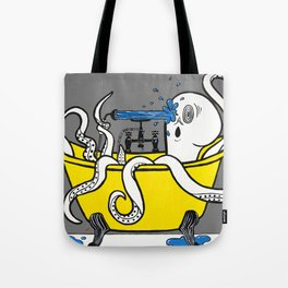 Octopus in a Bathtub Tote Bag