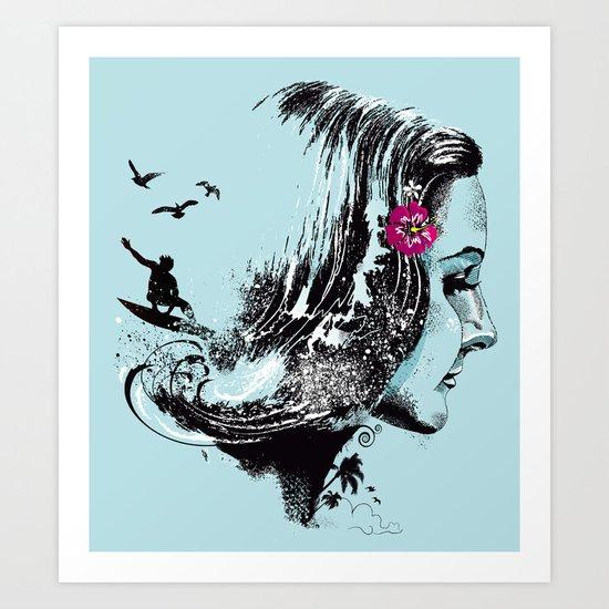 SURFHAIR Art Print