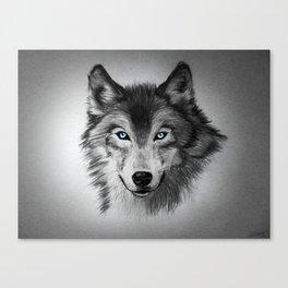 Blue-Eyed Wolf Canvas Print