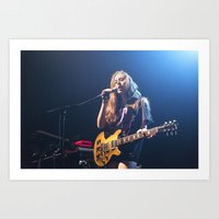 haim Art Prints featuring HAIM by Adam Pulicicchio Photography