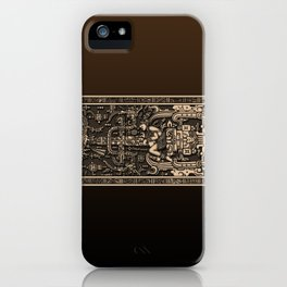 Sala Tumba de Pakal iPhone Case