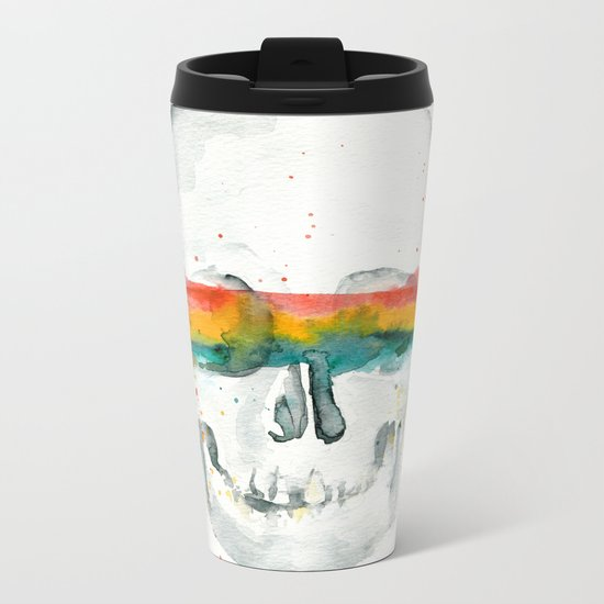 The Anonymity of Existence Metal Travel Mug