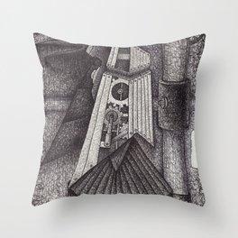 Robot bird Throw Pillow