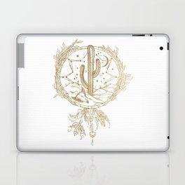 Desert Cactus Dreamcatcher in Gold Laptop & iPad Skin
