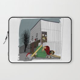 """""""I'm not wakin' him"""" by a.correia Laptop Sleeve"""