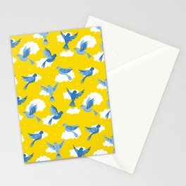 Blue Birds on a Sunny Sky Stationery Cards