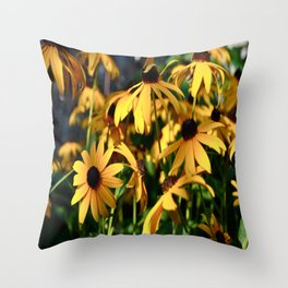 Black and Yellow. Throw Pillow