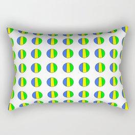 flag of gabon 3 -gabon,gabonais,gabonaise,Gabonese,gabones,libreville. Rectangular Pillow