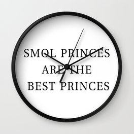 Smol Bookish YA Princes White Wall Clock