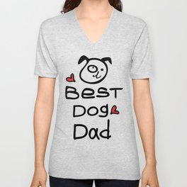 Best dog dad Unisex V-Neck