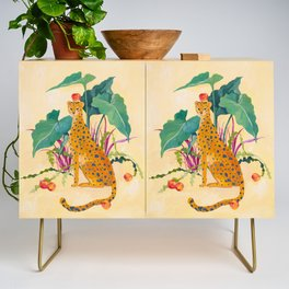 Cheetah and Apples Credenza