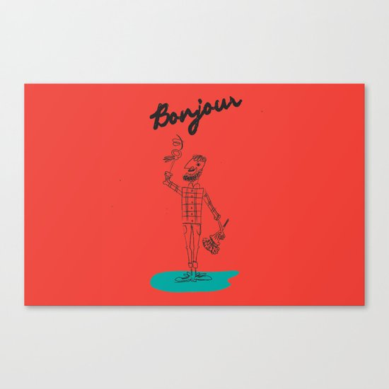 "The Ink - ""Bonjour"" Canvas Print"