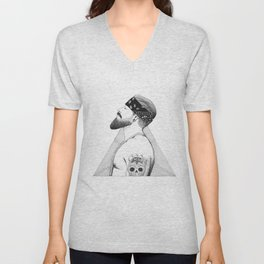 Beard Man - Thug Life Unisex V-Neck