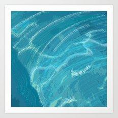 Water Words Art Print