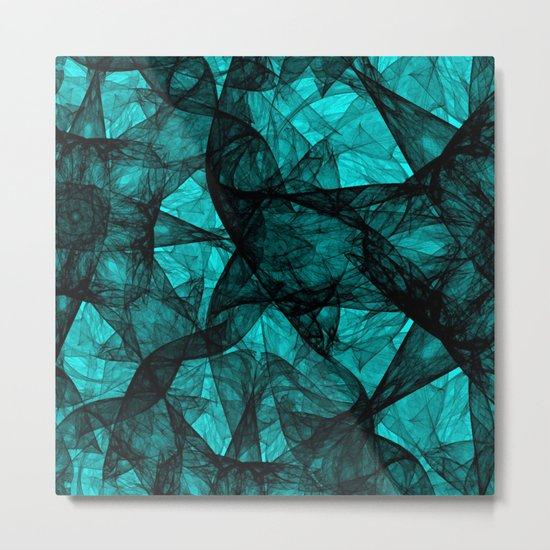 Fractal Art Turquoise G52 Metal Print