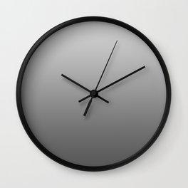 Grey Ombre Wall Clock