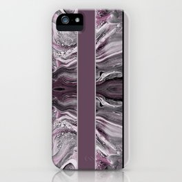 Marbled Mauve Pink Stripes iPhone Case