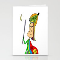 samurai Stationery Cards featuring SAMURAI by Joe Pansa
