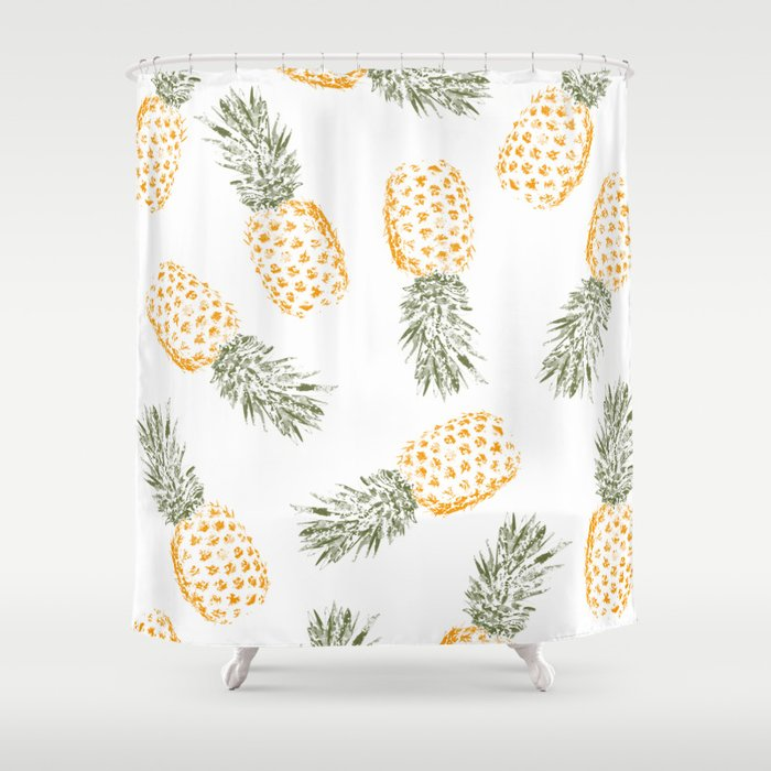 Great Pineapple Shower Curtain