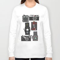 cameras Long Sleeve T-shirts featuring Cameras by Illustrated by Jenny