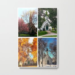 Four Seasons at the Poker Church Metal Print