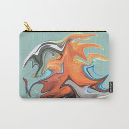 Abstract Waves 2 (Parrot) Carry-All Pouch