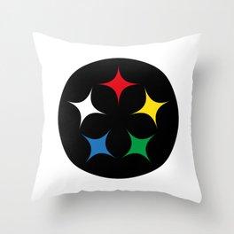 Stella Lunar Steel Throw Pillow