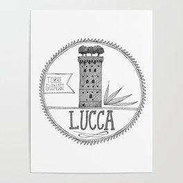 Torre Guinigi, Lucca Poster