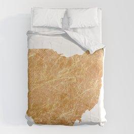 Gold Ohio Comforters