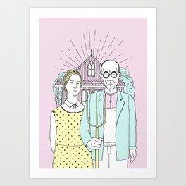 American Gothic Pop Art Print