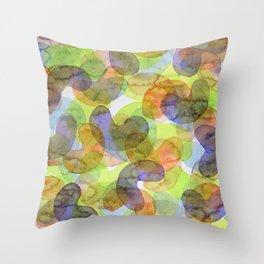 Purple Orange Green Croissants Throw Pillow