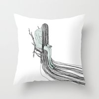 witch Throw Pillows featuring Witch by Sparganum