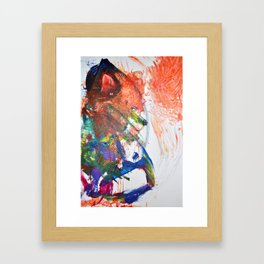 The Wily Fox | A Collaboration with my Toddler Framed Art Print