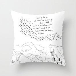 Follow the starlings Throw Pillow