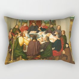 The Last Supper - 15th Century Painting Rectangular Pillow