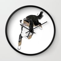 jack white Wall Clocks featuring Jack by Lucie Mizutani