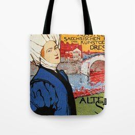 German artisanal art expo Dresden 1896 Tote Bag