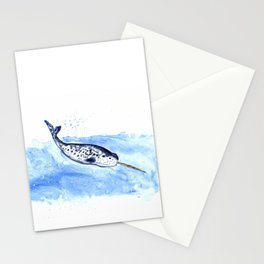 Narwhal Painting Stationery Cards