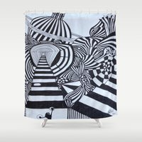 ninja Shower Curtains featuring Ninja by Biancasigns